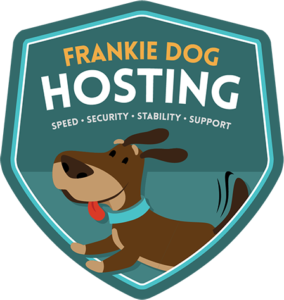 Frankie Dog Hosting - Shield Logo